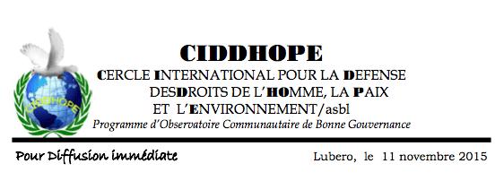 CIDDHOPE Beni-RDC
