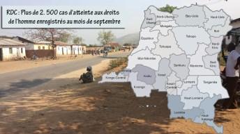 RDC: Plus de 2. 500 cas d'atteinte aux droits de l'homme enregistrés au mois de septembre