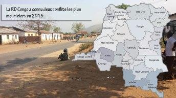La RD Congo a connu deux conflits les plus meurtriers en 2015
