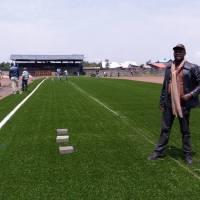 Football-RDC : Début de la pose du pelouse Sythetique au stade de l'Unité de Goma Inb