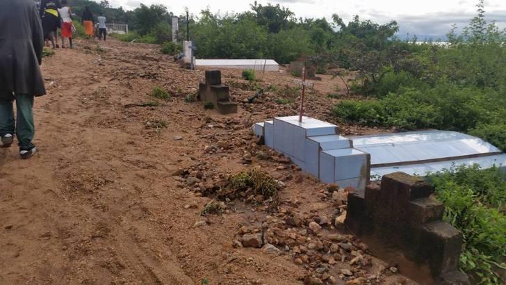 Uvira-RDC: Le cimetiere de Birere a uvira risque de partir a cause des erosions
