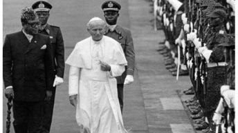 C'était: Un 14 août, comme aujourd'hui…deuxième visite du Pape Jean-Paul II au Zaïre.