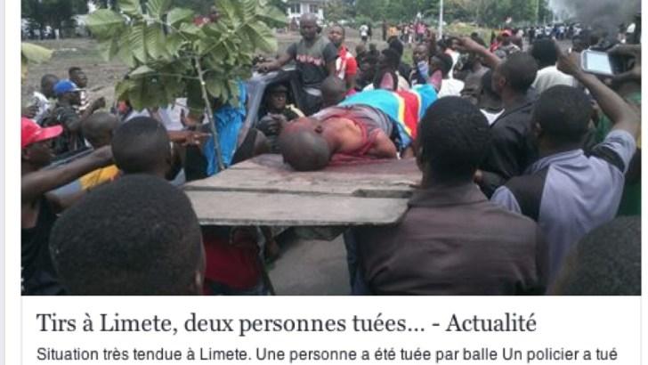 Photos: Les manifestations du 19 sept au Congo, les  publications sur facebook