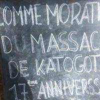 Kamanyola-RDC: DIX-SEPTIÈME ANNIVERSAIRE DU MASSACRE DE KATOGOTA