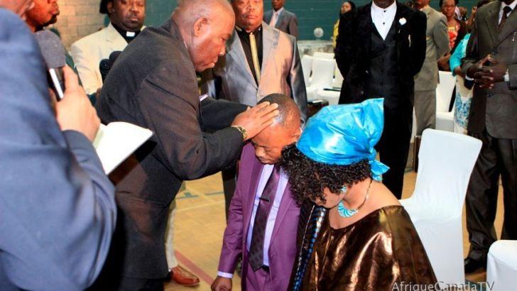Photos: Ordination pastorale de Janvier E. Biambo et de l'Ancien Anzuruni Mwenebitu à Sherbrooke