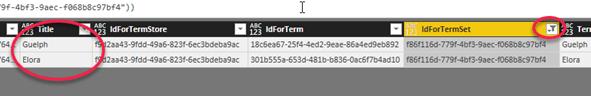Loading the TaxonomyHiddenList