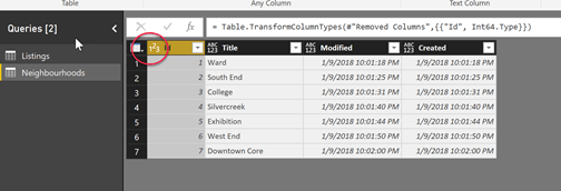 Setting the ID column to whole number