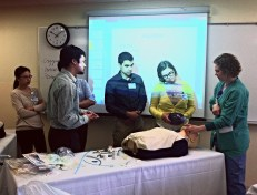 Dr Stebbins teaches class