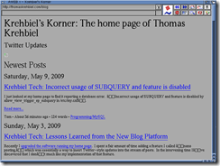 Krehbiel's Korner on AWeb
