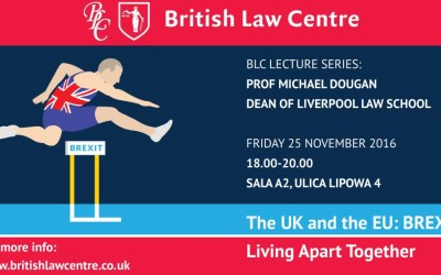 BLC Lecture: The UK and the EU: BREXIT, Living Apart Together