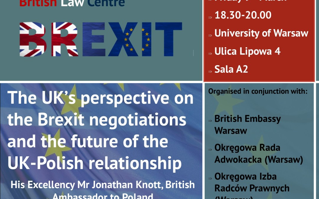 Lecture by the British Ambassador on British-Polish relations post-Brexit