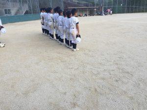 城川運動公園多目的グラウンドにて1日練習(平成28年8月21日)