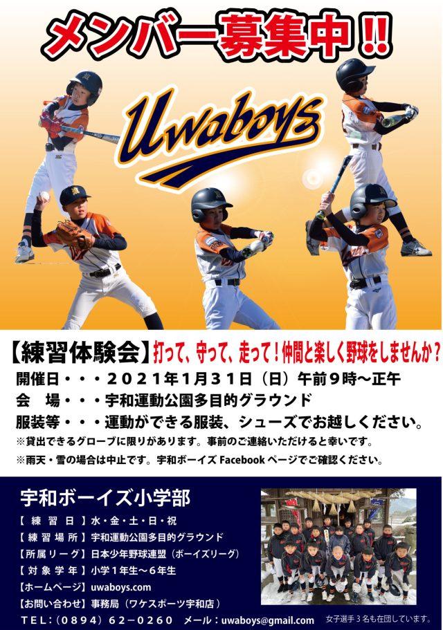 2021年1月31日は体験会を開催します!みんなで野球をしませんか?