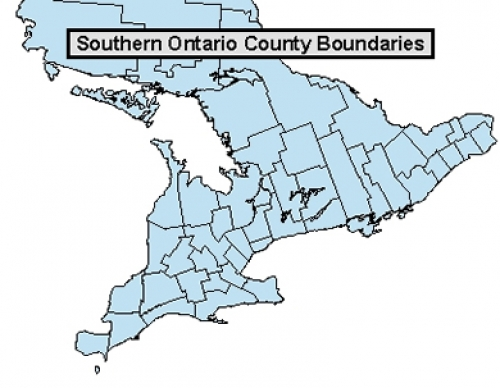 Ontario county and township boundaries Geospatial Centre