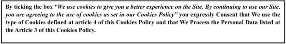 Cookies' restriction and Consent