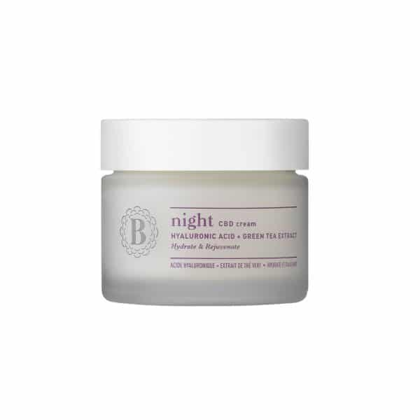 Blossom NIGHT - CBD Cream with Hyaluronic Acid & Green Tea Extract, Face Care