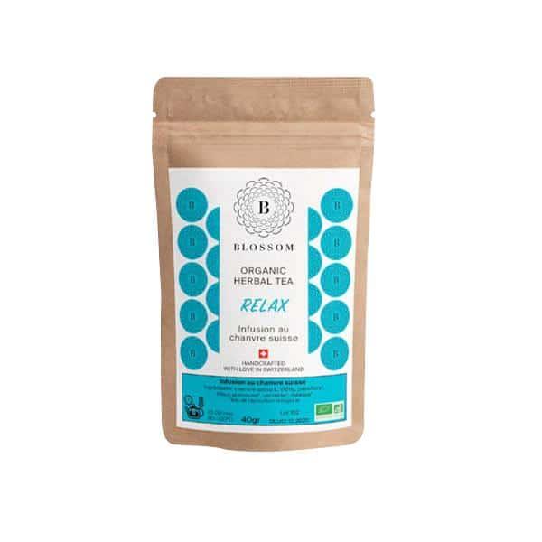 Blossom Bio-Kräuter-Tee mit Schweizer Hanf - Relax 1, Hanftee