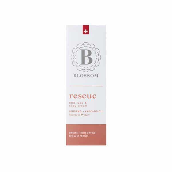Blossom RESCUE - CBD Gesichts- und Körpercreme mit Ginseng & Avocadoöl