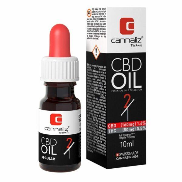 Cannaliz Technic CBD-Öl - 2:1 Verhältnis (CBD/THC), CBD Öl