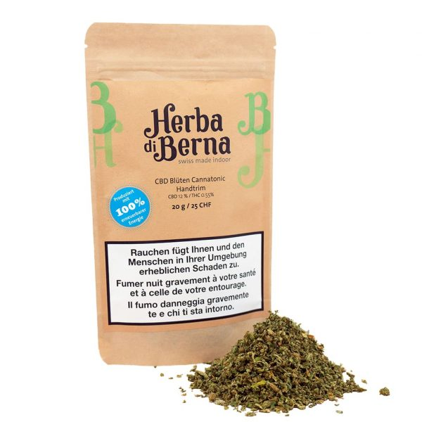 Herba di Berna Cannatonic Indoor Handtrim, CBD Trim
