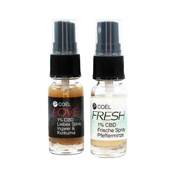 Herba di Berna Coel Mizellen Spray Fresh 1% CBD 2, Wasserlösliches CBD