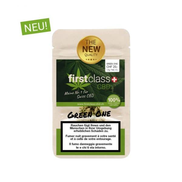 First Class CBD Green One 1, CBD Blüten