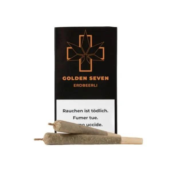 Golden Seven Erdbeerli CBD Joints, Pre-Rolled Joints
