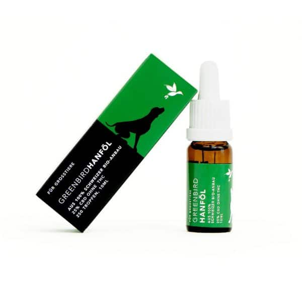 Greenbird CBD Öl 25% für Grosstiere, CBD Öl für Tiere
