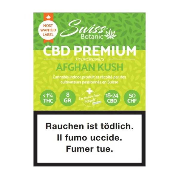 Swiss Botanic Afghan Kush 3, CBD Flowers