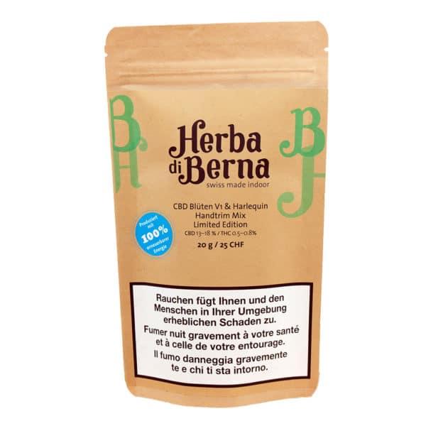 Herba di Berna V1 & Harlequin Indoor Handtrim Mix, CBD Trim