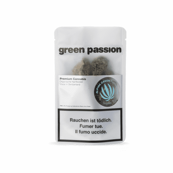 Green Passion Outdoor Alpina Green, CBD Flowers