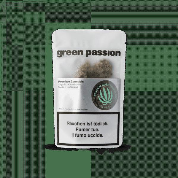 Green Passion Passion Kush Popcorn, Small Buds