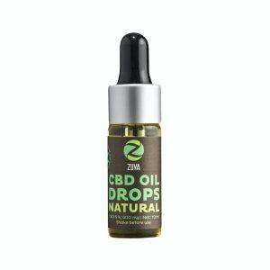 Zuya Natural 6% - Huile CBD à Spectre Complet (600mg), Huile CBD