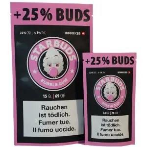 Starbuds Bubble Gum, CBD Blüten