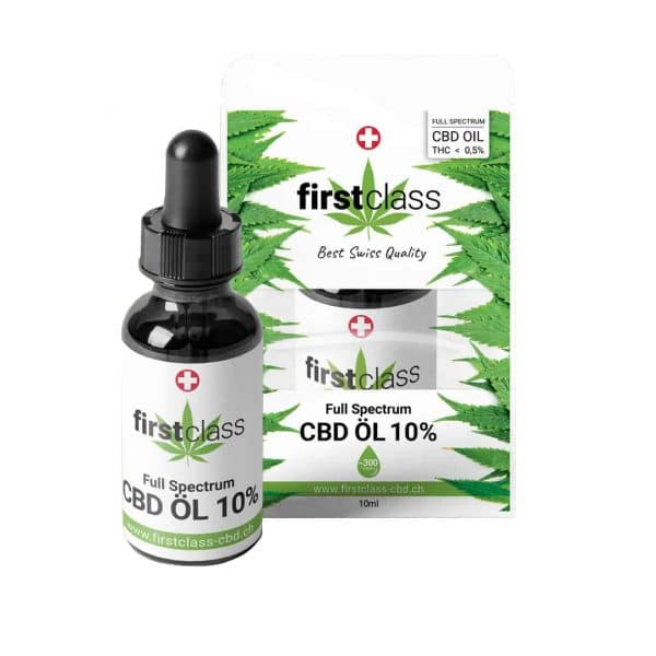 First Class CBD Full-Spectrum Swiss CBD Oil 10% 1, CBD Öl