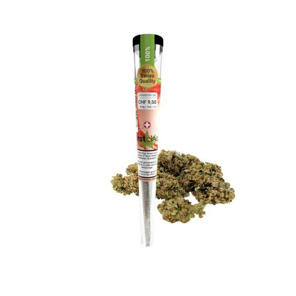 First Class CBD Pure Strawberry - Joint Pré-Roulé, Joints Pré-Roulés