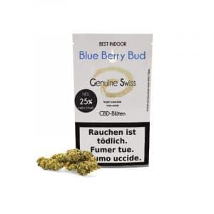 Genuine Swiss Blue Berry Bud, Fleurs CBD