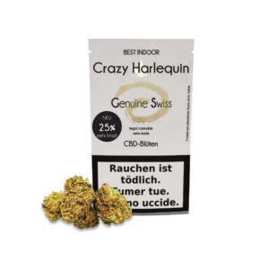 Genuine Swiss Crazy Harlequin, Fleurs CBD