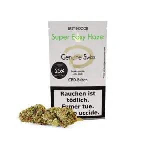 Genuine Swiss Super Easy Haze, Fleurs CBD