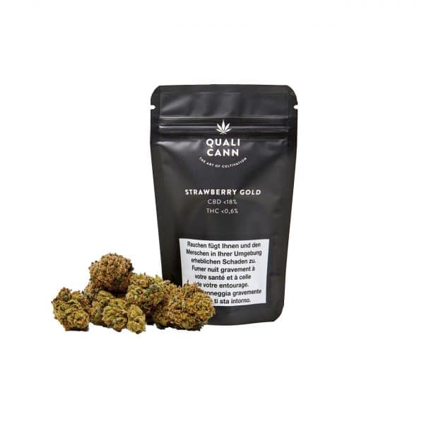 Qualicann Strawberry Gold, Fleurs CBD