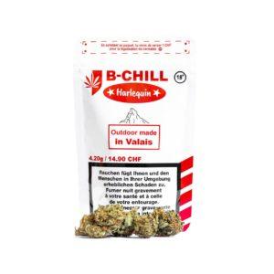 B-Chill Harlequin Outdoor, CBD Blüten