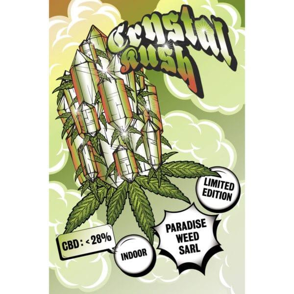 Paradise Weeds Crystal Kush Indoor, CBD Flowers