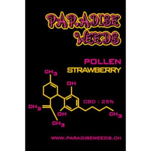 Paradise Weeds Dry CBD Extract Strawberry