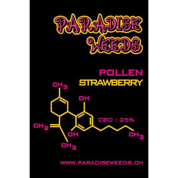 Paradise Weeds CBD Trockenextrakt von Erdbeerli (Strawberry), CBD Pollen