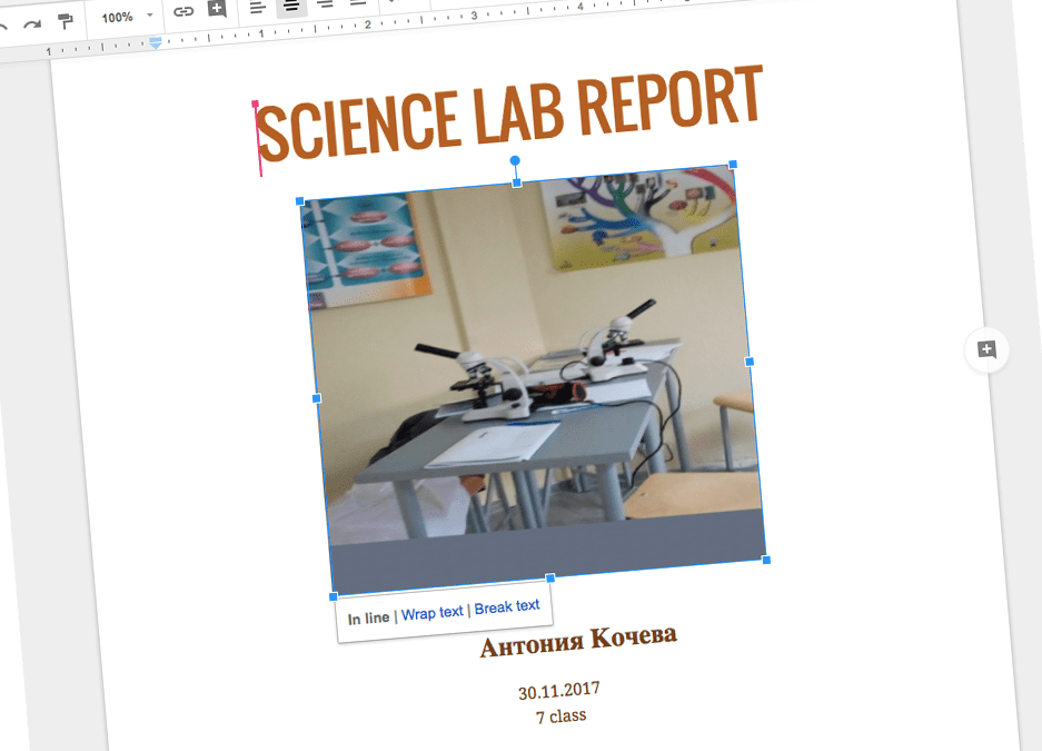Science Lab Report в Увекинд