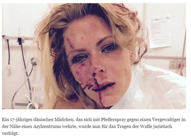 Dänemark: 17-Jährige bestraft, weil sie sich mit Pfefferspray gegen einen marrokkanischen Vergewaltiger wehrte