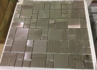 Silver Metal Stainless Steel Mosaic -Backsplash