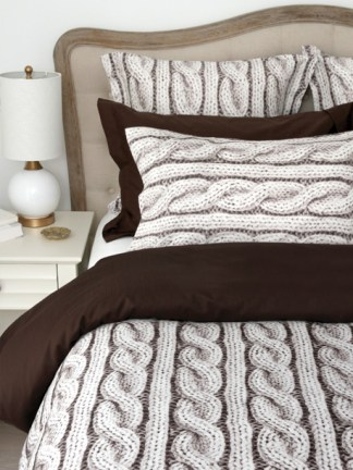 The Cable Knit Collection by Cuddle Down Products