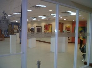 The Trinidad & Tobago anniversary exhibition, Season of Renewal, June 2012, in the museum and the lobby