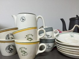 Crockery used in the various halls of residence when the university was completely residential.; from the UWI Museum collection